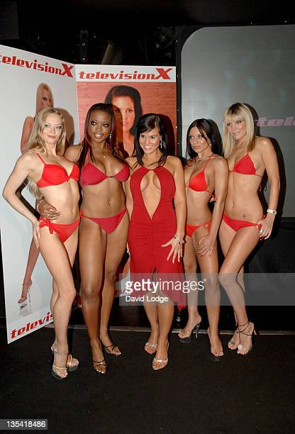 Michelle Bass with Television X Models during Television X Photocall with Michelle Bass in London Great Britain