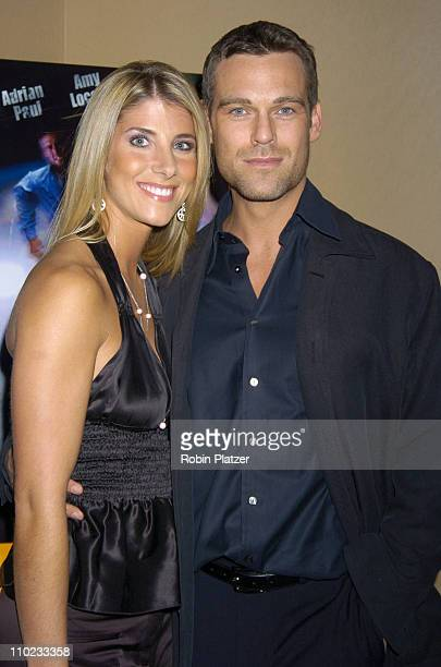 Michelle Beisner and Grayson McCouch during E5 Special Screening at UA Battery Park Stadium in New York City New York United States