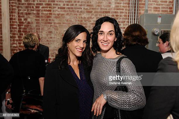 Michelle Benyamin and Alexis Murray attend The Rema Hort Mann Foundation LA Artist Initiative Benefit Auction on November 21 2013 in Los Angeles...