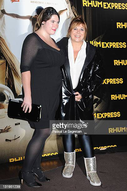 Michelle Bernier and daughter attend the 'Rhum Express' Paris Premiere at Cinema Gaumont Marignan on November 8 2011 in Paris France
