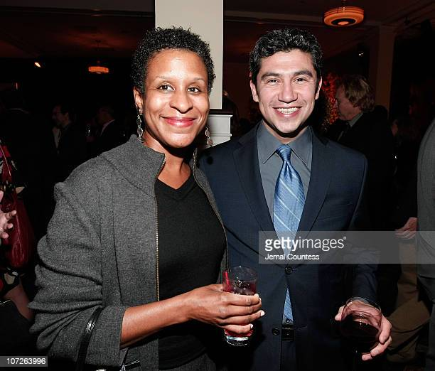 Michelle Bird Executive Director of the IFP with Louie Castro at the The Sundance Institute's 26th Annual Sundance Family Celebration at 583 Park...