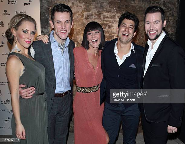 Michelle Bishop Samuel Holmes Jo Morris Adam Garcia and Kevin Brewis attend the Kiss Me Kate after party at Old Vic Tunnels on November 27 2012 in...