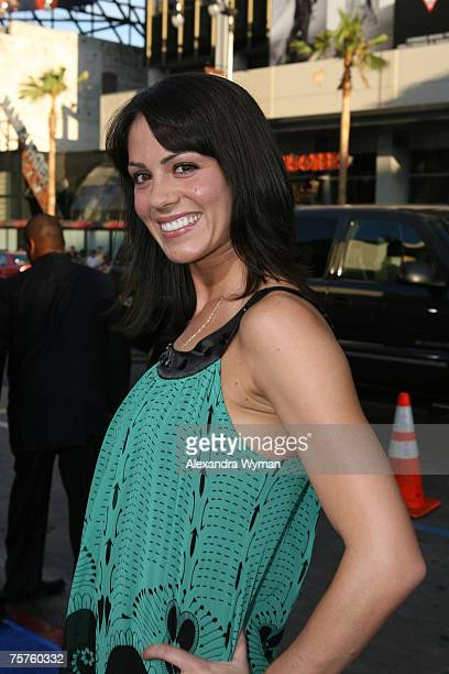 Michelle Borth arrives at the Los Angeles Premiere of Hot Rod held at The Manns Chinese Theater on July 26, 2007 in Hollywood, California.