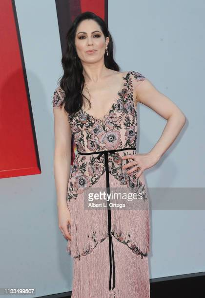 "Michelle Borth arrives for the Warner Bros. Pictures And New Line Cinema's World Premiere Of ""SHAZAM!"" held at TCL Chinese Theatre on March 28, 2019..."