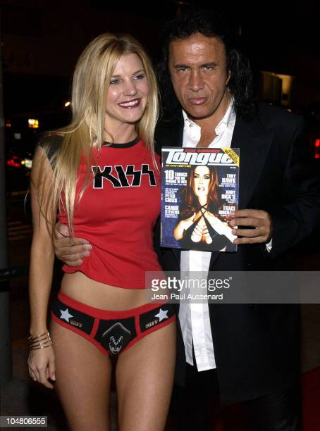 Michelle Bradley Gene Simmons during Tongue Magazine Party at Barfly in Los Angeles California United States