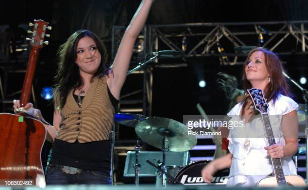 Michelle Branch and Jessica Harp of The Wreckers during CMA Music Festival Fan Fair 2007 - LP Field - Night One at LP Field in Nashville, TN, United...