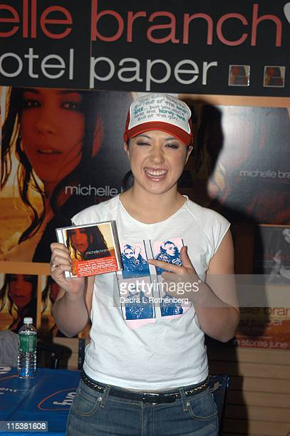 """Michelle Branch during Michelle Branch in Store Appearance to promote her new CD, """"Hotel Paper"""" at FYE Rockefeller Plaza in New York City, New York,..."""