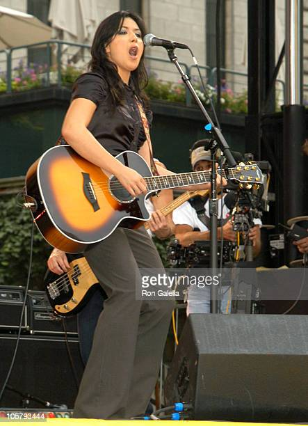 """Michelle Branch during Michelle Branch Performs on """"Good Morning America"""" 2003 Concert Series at Bryant Park in New York City, New York, United..."""
