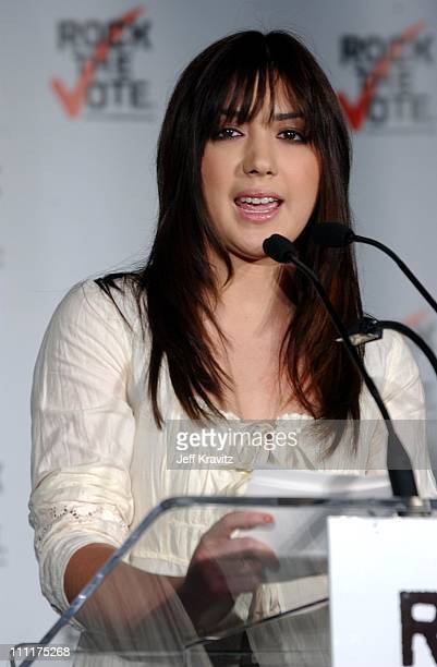 Michelle Branch during Rock the Vote Press Conference at Palladium in Hollywood, California, United States.
