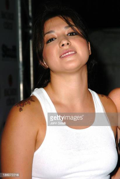 Michelle Branch during Stuff Magazine and Virgin Mobile VMA Party Hosted by Missy Elliot and Dave Meyers - Arrivals at Star Island in Miami,...