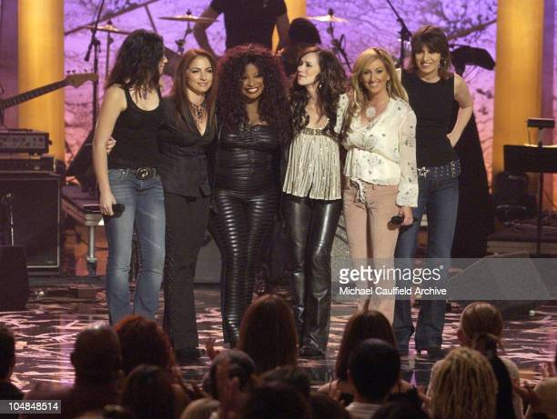 Michelle Branch Gloria Estefan Chaka Khan Jennifer Love Hewitt Lee Ann Womack and Chrissie Hynde at 'Women Rock Girls and Guitars' airing on the...