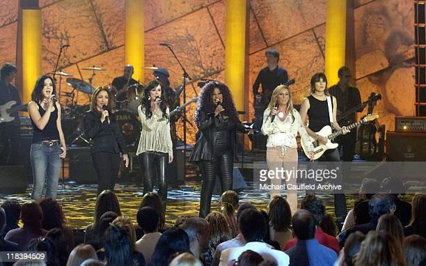 Michelle Branch Gloria Estefan Jennifer Love Hewitt Chaka Khan Lee Ann Womack and Chrissie Hynde perform at 'Women Rock Girls and Guitars' airing on...