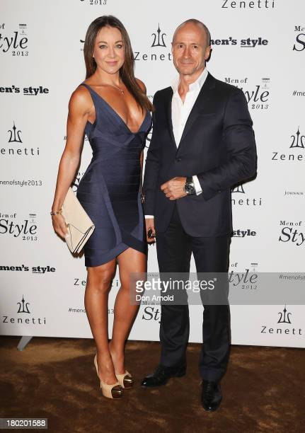 Michelle Bridges and Bill Moore arrive at the Men's Style 10th Birthday Party at The Ivy on September 10 2013 in Sydney Australia