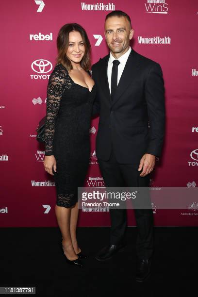 Michelle Bridges and Steve Willis attend the Women's Health 'Women In Sport' Awards on October 16 2019 in Sydney Australia