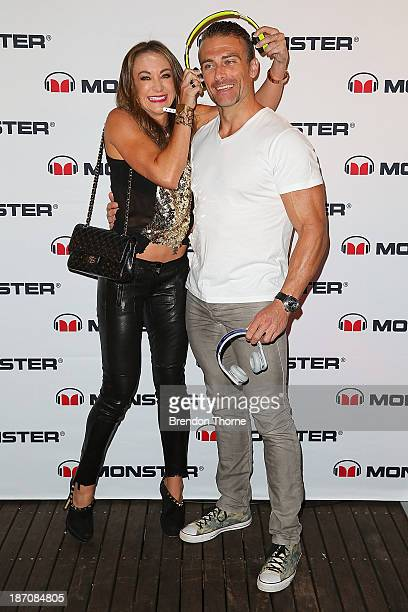 Michelle Bridges and Steve Willis poses at the Monster Headphones Launch Party at The Ivy on November 6 2013 in Sydney Australia