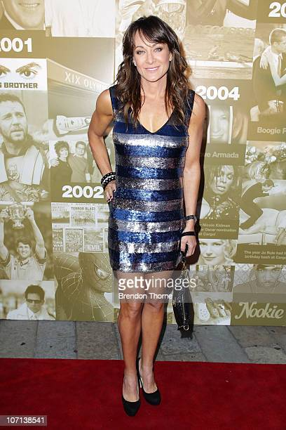 Michelle Bridges arrives at Cargo Bar's tenth anniversary party on November 25 2010 in Sydney Australia