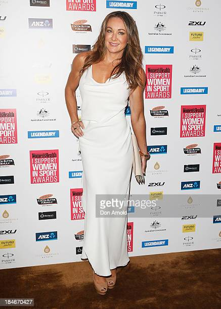 Michelle Bridges arrives at the 'I Support Women In Sport' awards at The Ivy Ballroom on October 15 2013 in Sydney Australia
