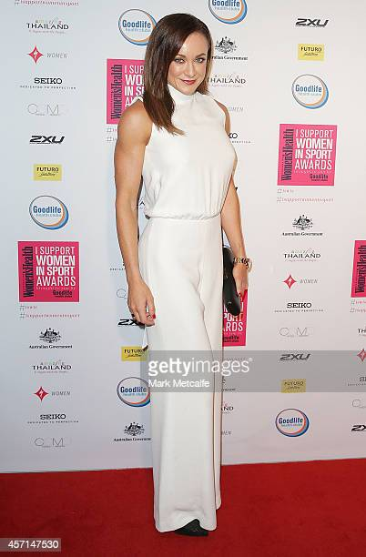 Michelle Bridges arrives at the 'I Support Women In Sport' awards at Establishment on October 13 2014 in Sydney Australia