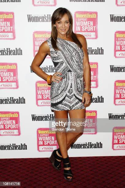 Michelle Bridges arrives at the Support Women in Sport launch at the Sydney Cricket Ground on January 19 2011 in Sydney Australia The aim of the...