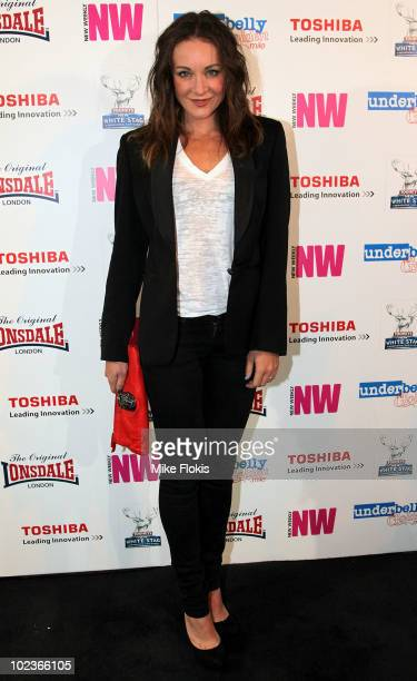 Michelle Bridges arrives at the 'Underbelly The Golden Mile' DVD launch at The Tunnel on June 24 2010 in Sydney Australia