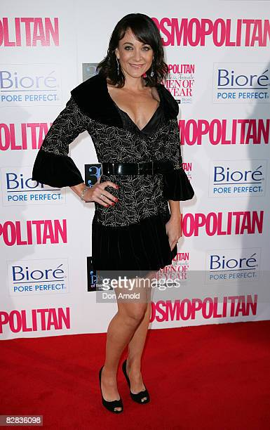 Michelle Bridges arrives for the Cosmopolitan and Biore Fun Fearless Female Awards at Sydney Cafe on September 16 2008 in Sydney Australia