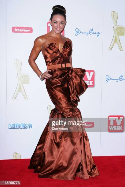 Michelle Bridges arrives on the red carpet ahead of the 2011 Logie Awards at Crown Palladium on May 1 2011 in Melbourne Australia