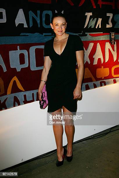 Michelle Bridges attends the Alex Perry Designer Rugs launch event at Sun Studios on October 21 2009 in Sydney Australia