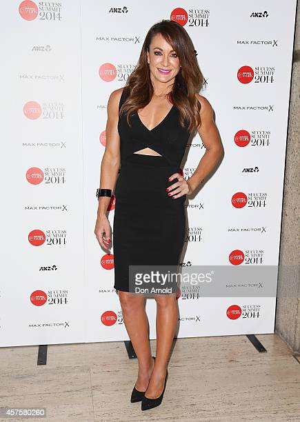 Michelle Bridges poses at the Marie Claire 2014 Success Summit at Art Gallery Of NSW on October 21 2014 in Sydney Australia