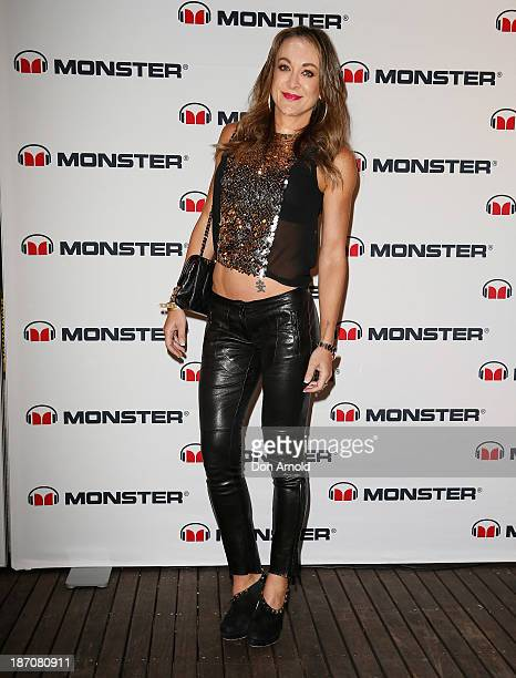 Michelle Bridges poses at the Monster Headphones Launch Party at The Ivy on November 6 2013 in Sydney Australia