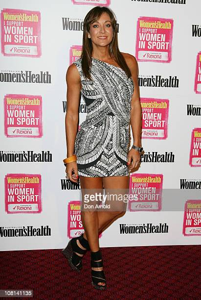 Michelle Bridges poses for a photo during a photo call for the Support Women in Sport launch at the Sydney Cricket Ground on January 19 2011 in...