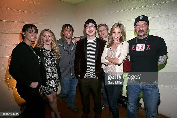 Michelle Burke Thomas Marissa Ribisi Richard Linklater Wiley Wiggins Anthony Rapp Joey Lauren Adams and Nicky Katt pose before a QA for the 20th...