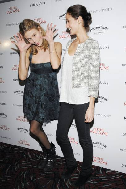 Michelle Buswell and Rekha Luther attend THE CINEMA SOCIETY hosts a screening of `MULTIPLE SARCASMS` at AMC Loews 19th Street East on April 19 2010...