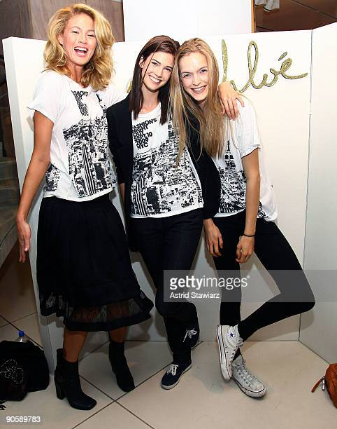 Michelle Buswell Kendra Spears and Mirte attend the Chloe celebration of Fashion's Night Out at Chloe Boutique on September 10 2009 in New York City