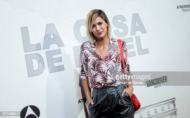 Michelle Calvo attends 'La Casa de Papel' Madrid Premiere on April 24 2017 in Madrid Spain