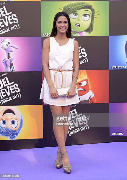 Michelle Calvo attends the 'Inside Out' Premiere at Callao Cinema on July 15 2015 in Madrid Spain
