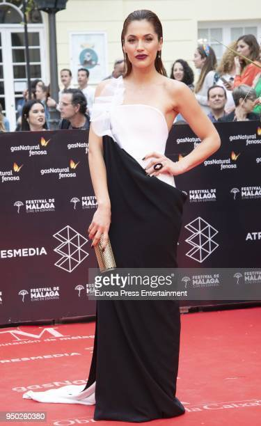 Michelle Calvo during the 21th Malaga Film Festival closing ceremony at the Cervantes Teather on April 21 2018 in Malaga Spain
