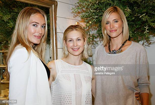 Michelle Campbell Kelly Rutherford and Kristen Taekman attend Hampton Magazine Celebration of The Club Monaco Southampton Store Opening on June 28...