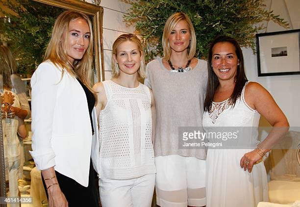 Michelle Campbell Kelly Rutherford Kristen Taekman and Samantha Yanks attend Hampton Magazine Celebration of The Club Monaco Southampton Store...