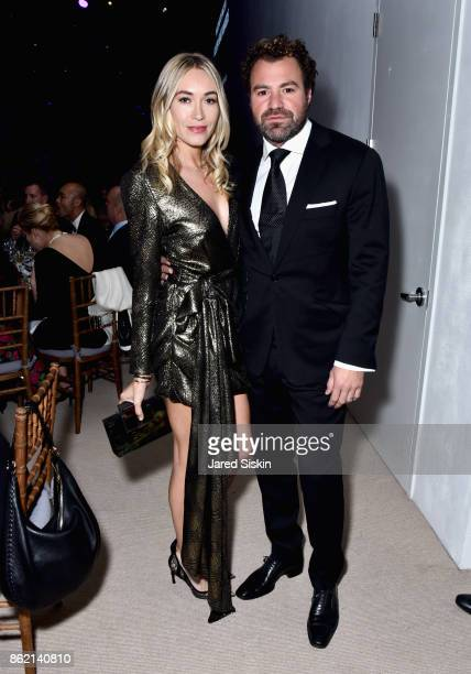 Michelle Campbell Mason and Zach Vella attend The 11th Annual Golden Heart Awards Benefiting God's Love We Deliver at Spring Studios on October 16...