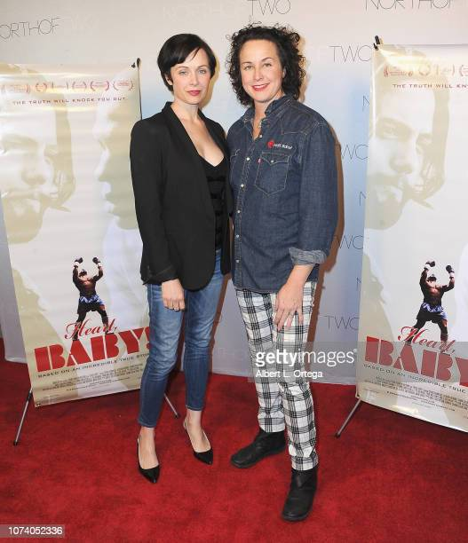 Michelle Carmichael and Angela Shelton arrive for the premiere of 'Heart Baby' held at The Ahrya Fine Arts Laemmle Theater on November 23 2018 in...