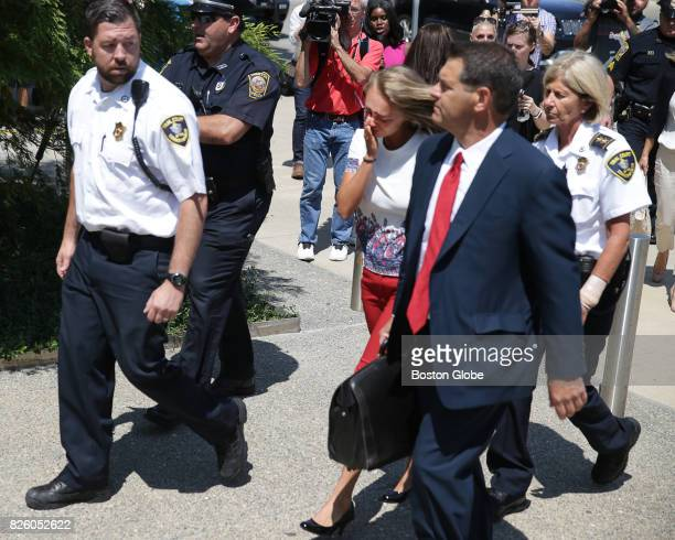 Michelle Carter is escorted into the Taunton District Court in Taunton MA for her sentencing hearing on Aug 3 2017 Carter was found guilty of goading...
