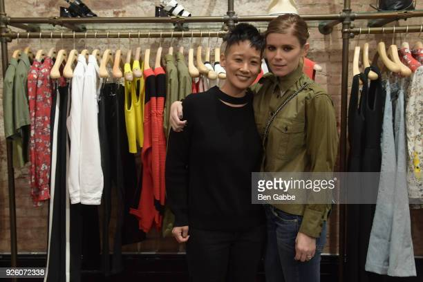 Michelle Cho is Vice President of Celebrity and Entertainment Outreach for The Humane Society and actress Kate Mara attend an evening at rag bone...