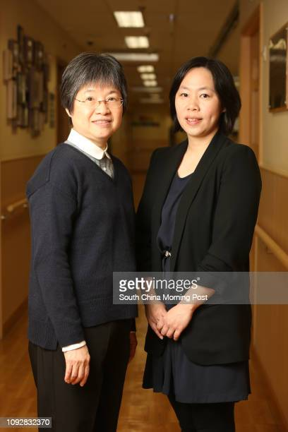 Michelle Chow Chiuchun Operation Manager of Lok Sin Tong Hoi Wang Road Nursing Home and Alice Lau Oisze Chief Executive of The Lok Sin Tong...