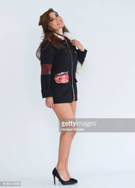 Michelle Claire Pentreathll wearing Vampire Rockstar Clothing at The Artists Project Giveback Day on February 14 2018 in Los Angeles California