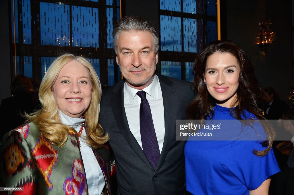 Michelle Cohen, Alec Baldwin and Hilaria Baldwin attend the Guild Hall Academy of the Arts Achievement Awards & Benefit Dinner at The Rainbow Room on March 13, 2017 in New York City.