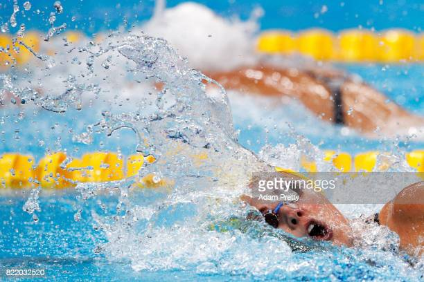 Michelle Coleman of Sweden competes during the Women's 200m Freestyle Heats on day twelve of the Budapest 2017 FINA World Championships on July 25...