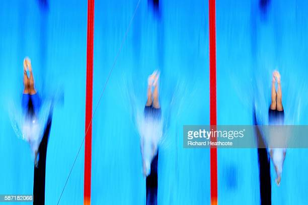 Michelle Coleman of Sweden Katie Ledecky of the United States and Emma McKeon of Australia competes in the Women's 200m Freestyle heat on Day 3 of...