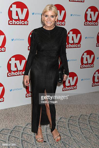 Michelle Collins arrives for the TVChoice Awards at The Dorchester on September 5 2016 in London England