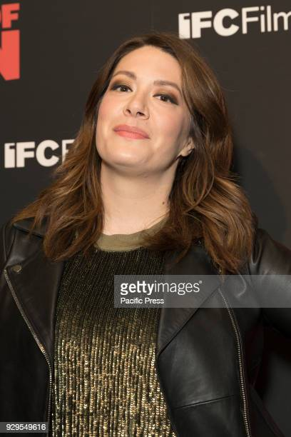 Michelle Collins attends New York premiere of IFC Film Death of Stalin at AMC Lincoln Square