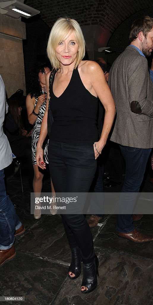 Michelle Collins attends opening night of 'Barking In Essex' at Wyndhams Theatre on September 16, 2013 in London, England.